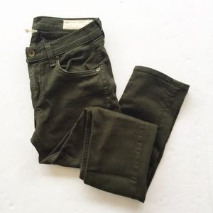 Rag & Bone | The Dre Dark Olive Green Skinny Jeans
